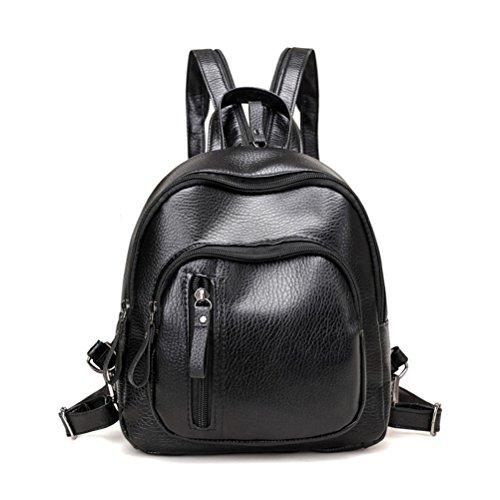 Zainetto da donna Donalworld, con motivo floreale, ideale per la scuola, come borsa o per i viaggi, carino, in finta pelle, piccolo Col7 small