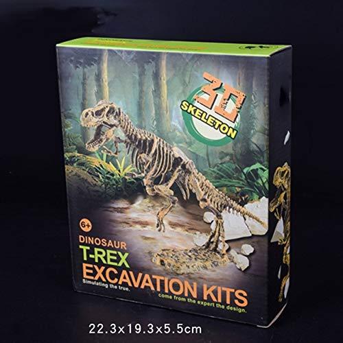 XCAR-Biology - Jurassic Dinosaur Fossil excavation kits Education archeology Exquisite Toy Set Action Children Figure Education Gift BabyA9BC00 (T-rex)