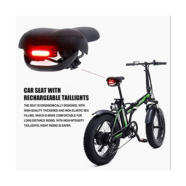 51MYQJZZ0yL. SS600  - GUNAI Elektrofahrräder 500W,20 Zoll Faltbare Mountain Snow E-Bike Rennrad mit Scheibenbremsen 7 Geschwindigkeit