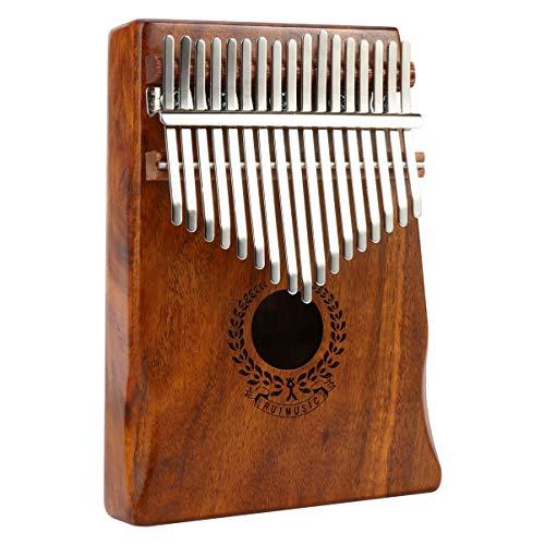 ULTNICE 17 Tasten Kalimba Daumen Set Finger Klavier Vintage Holz Mbira Kalimba Musikinstrument für Kinder Musikliebhaber Anfänger Geschenk