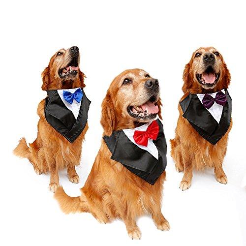 Tofern Hundehalsband Schleife Krawatte Hochzeit Kostüm Party Fliege, Rot