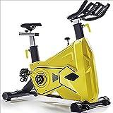 WGFGXQ Bicicleta estática Ciclismo de Interior Bicicleta estacionaria Cómodo cojín de Asiento Manillar con agarres múltiples Volante Pesado