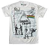Liquid Blue unisex adult Floyd Sketch T-shirt T Shirt, White, Large US