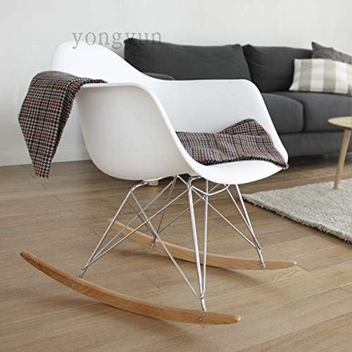 DWWSP Décoration d'intérieur Loisirs Salon Meubles Mode Plastique Mode Salon Chaise Balcon Rocking Chair.Multi Couleur Chaise de Salle à Manger en Option (Color : Jaune) Orange