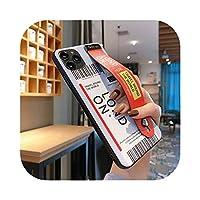 Adwwg エアチケットバーコードラベル電話ケースiphone11 Pro Max Xs MAX XR X 7 8 66sプラスクリアソフトTPUバックリストバンドスタンド付き-Orange-For iPhone 7