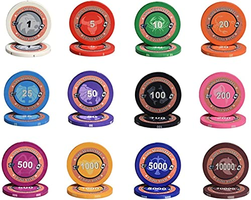 Fichas Poker Ceramica con Numeros Marca GAOSHENGWUJINGD