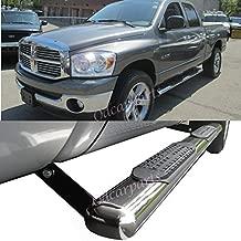"""FOR 02-09 DODGE RAM REGULAR CAB 4/"""" OVAL BLACK SIDE STEP NERF BAR RUNNING BOARD"""