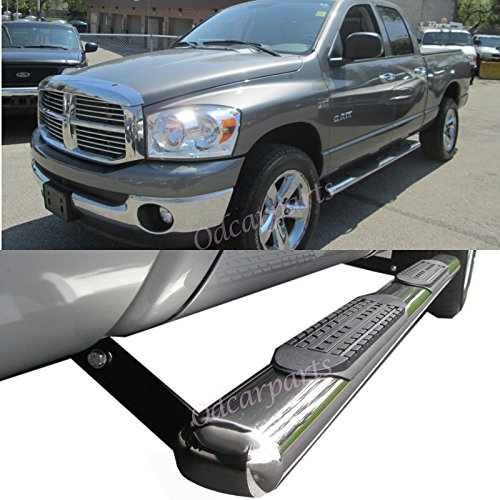 "FIT 02-08 DODGE RAM 1500 QUAD CAB 4/"" SIDE STEP RUNNING BOARD S//S OVAL PICKUP"