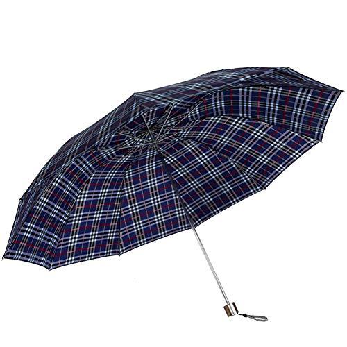 Windabweisendem Drei Folding Regenschirm-Regen Windsicher Regenschirme Sonnenschirm Verstärkung All Steel Tragbare
