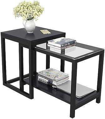 WY&XIAN Sofa Side Cabinet, Coffee Table/Corner - Corner Cabinet/Glass Side - Bedroom Side Table Folding,Multifunctional (
