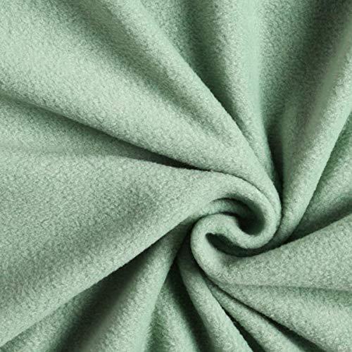 Fabulous Fabrics Fleece pastellgrün, Uni, 150cm breit – Fleece zum Nähen von Tagesdecken und Nachtwäschen – Meterware erhältlich ab 0,5 m