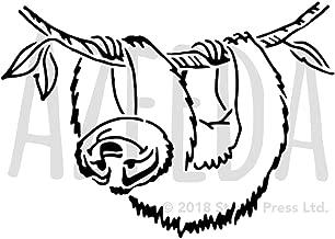 Azeeda A5 'Sloth' Wall Stencil / Template (WS00036312)