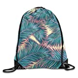 Etryrt Zaino con Coulisse,Borse Sacca,Sacchetto Palm Trees Drawstring Backpack...