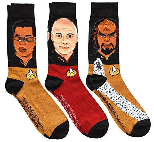 Picard Worf Geordi Socks Set