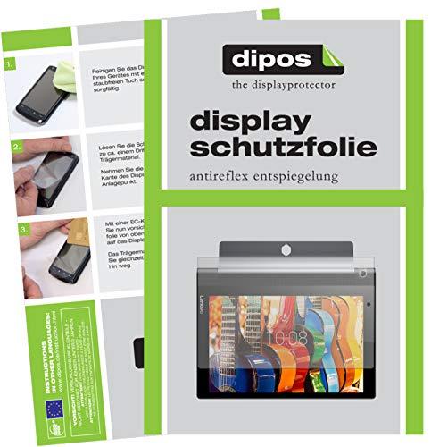 dipos I 2X Schutzfolie matt kompatibel mit Lenovo Yoga Tablet 3 (10 Zoll) Folie Displayschutzfolie