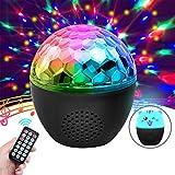 Discokugel, NINECY Partylicht 16 Farbe Musikgesteuert, Kabelloses Discolicht mit bluetooth Lautsprecher/Fernbedienung/Lampenschirm/Nachtlicht Modus für Kinder, Weihnachten, Disco Party Deko