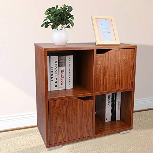 EBTOOLS Cube 4 Grid Staande kast, 2-deurs roomdivider, boekenkast, kinderkast, commode, dressoir, ladecommode, opbergkast