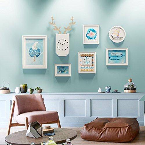 Fotobehang Houten Fotogalerij Frame Sets Van Muur Mode Huisdecoratie Met Bruikbare Kunstwerken En Familie, Sets Van 6 Modieus Ontwerp