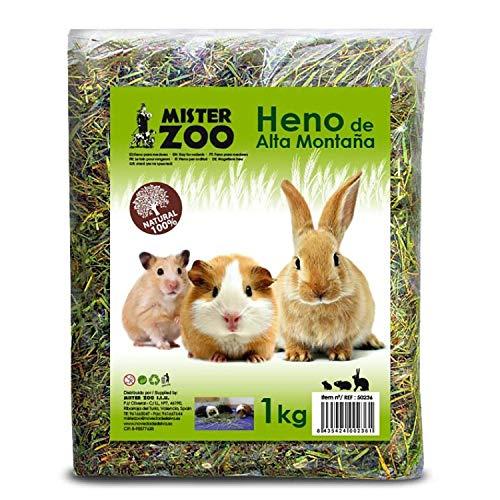 MovilCom® - Heno de Alta montaña para Hamster heno Natural para Mascotas pequeñas heno con Hierbas 1kg ⭐