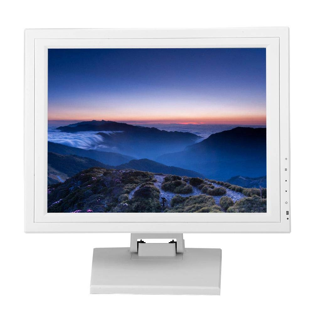 Wendry Pantalla LCD, Pantalla Táctil Capacitiva TFT-LCD Pantalla Registradora, Monitor de Alto Contraste y Alto Brillo, Pantalla para Caja Registradora (15 Pulgadas, 100-240 V)(Blanco EU): Amazon.es: Electrónica