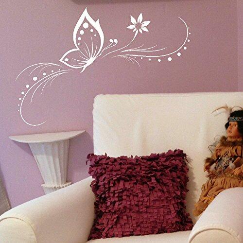 LaoGraphics Hermosas pegatinas de pared elegantes con diseño de mariposa, diseño floral y hogareño, ideal para regalo zzz-tb24