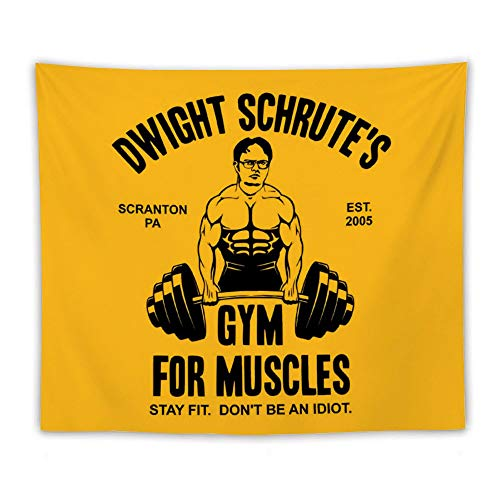 SAMANTHA JOYCE Dw-Ight Schr-ute's Gym for MusclesLiving Room Tapestry, Bedroom Decoration Mural,Dormitory Home Art,Wall Hanging 130150cm