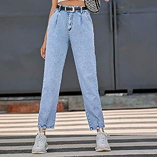 Women Fashion High Waist Jeans High Quality (Color : Light Blue, Size : XS)