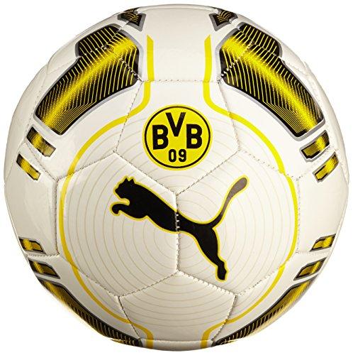 PUMA, Pallone da calcio BVB Evopower 6 Trainer Ms, Multicolore (White-Cyber Yellow-Black), 5'