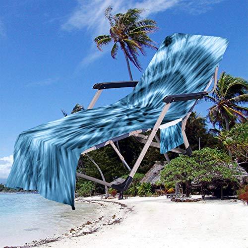 SM-River Lounger Mate Toalla De Playa Tumbona Toalla De Playa Llevar Cubierta De Tumbona Ligero/Ultra Absorbente para Vacaciones Jardín Tomar El Sol (75 * 200CM,19)