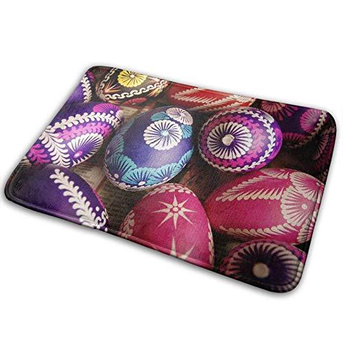 Zerbino di benvenuto,tappetino da bagno,uova di Pasqua colorate Love Tappeto antiscivolo per ingresso Tappetino per porta d'ingresso per interni all'aperto,tappetini lavabili in lavatrice 23 x 15,7 po
