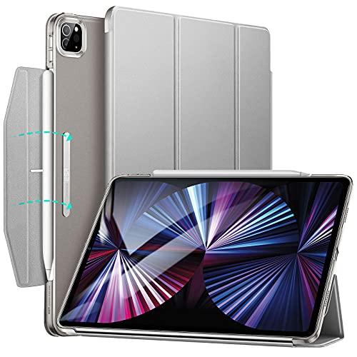 ESR Trifold Hülle mit Ständer kompatibel mit iPad Pro 11 2021, Trifold Standhülle, Auto Schlaf-/Weckfunktion, Grau