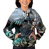 ドラゴンクエスト パーカー 保温する プルオーセーターフード付きポケット付きジャケット男の子と女の子に適しています Youth S