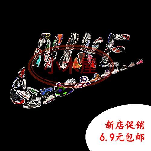 Nike Schoen Sticker Doodle Persoonlijkheid Koffer Mannen Trendy Klassieke Laptop Stickers 10 Stuks