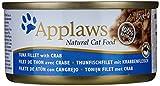 Applaws Douille de Thon Filet/Crabe pour Chat 24 X 70 g