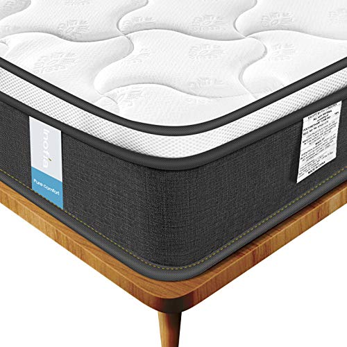 Amazon.com: Inofia Full Mattress, Luxury Pocket Spring Hybrid Mattress, Comfy High-Density Foam Mattress with Breathable Comfort Layer 9 (Full): Kitchen & ...