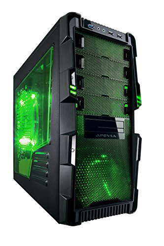 Apevia X-HERMES-GN ATX Mid Tower...