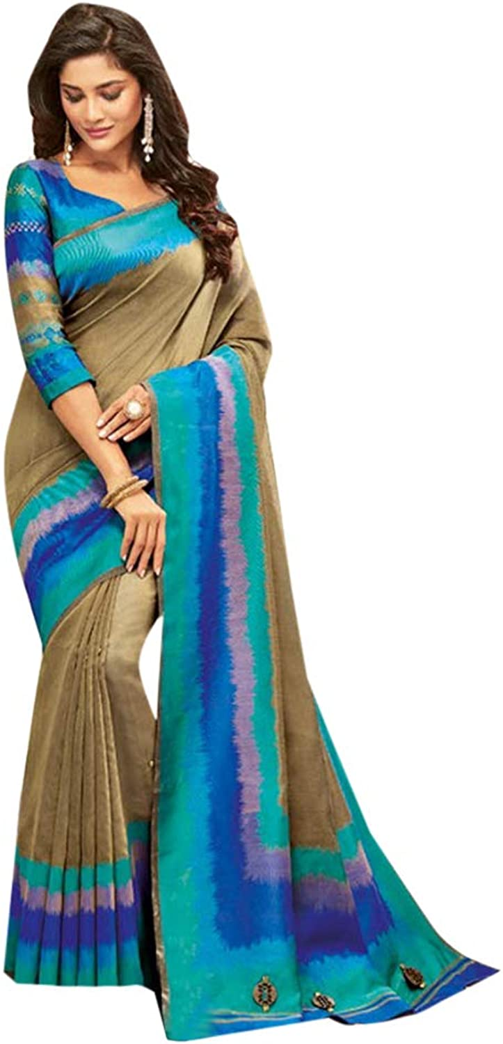 Indian Ethnic Designer Shady Saree With Blouse Casual Wear 7164