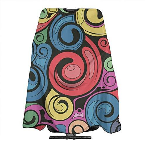 Swirl Tablier de salon professionnel imperméable pour homme et femme Motif art rétro 140 x 168 cm