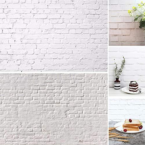 Selens 56x88cm 2in1 Hintergrund Weiß Zement Backstein Mauer Flat Lay Tischplatte Fotografie Doppelseitiger Hintergründe für Gourmet Blogger, Kosmetik, Online Shops Produktfotografie, Lebensfotos
