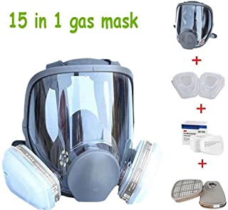 WALLER PAA 15 in 1 Suit Full Face Gas Mask F 3M 6800 Facepiece Respirator Painting Spraying