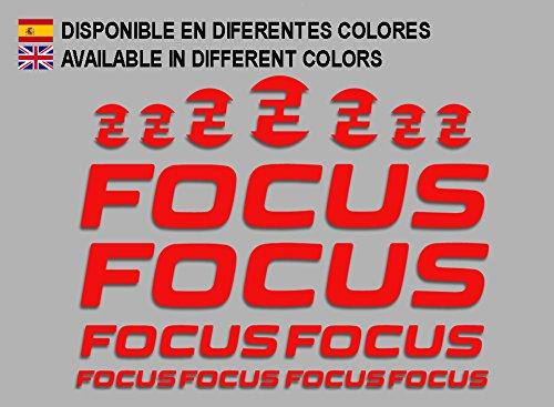 Ecoshirt 7S-2TZB-JUZ6 Pegatinas Focus F192 Stickers Aufkleber Decals Adesivi MTB Cicle Bike, Rojo