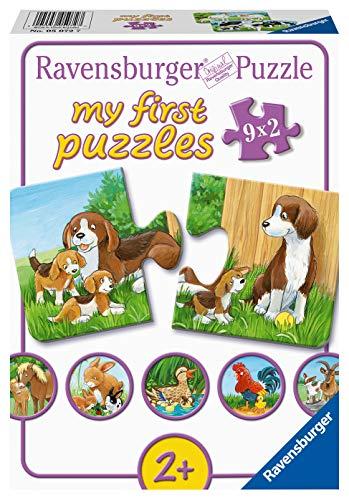 Ravensburger Kinderpuzzle 05072 - Tierfamilien auf dem Bauernhof - my first puzzles - 2,4,6,8 Teile