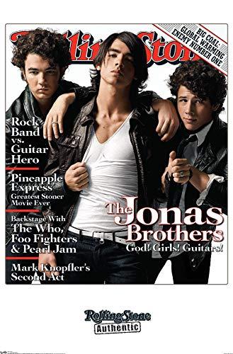Trends International Rolling Stone Magazine - Jonas Brothers Wall Poster, 22.375' x 34', Premium Unframed Version