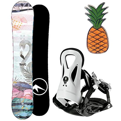 Trans FE Girl Kinder Snowboard Set 2020~140 cm + JUNIOR BINDUNG GR. M + PAD