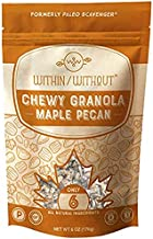 Maple Pecan Grain Free Granola by Within/Without | Certified Paleo and Keto Diet Friendly Vegan Granola | Naturally Gluten Free Low Carb Snack | No Refined Sugar