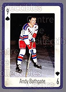 (CI) Andy Bathgate Hockey Card 2005 New York Rangers Legends Playing Card 9 Andy Bathgate