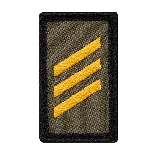 Café Viereck ® Hauptgefreiter Marine B&eswehr Rank Patch mit Dienstgrad - Gestickt mit Klett – 3 x 5 cm (Oliv Mini)