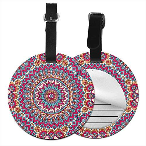 Slaytio personalisierbare Vintage-Dekorationselemente marokkanische Ottomanen-Motive rund Gepäck, Koffer, PVC-Armband, Schwarz, 4 PCS