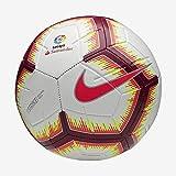 Nike LL NK Strk-Fa18 Ballon de Football Mixte Adulte, Blanc/Pink Flash/Team Red/Team, FR : L (Taille Fabricant : 5)