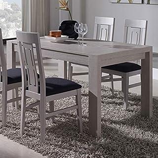 M-020 Table à Manger Extensible Couleur Bois Clair ADOUR